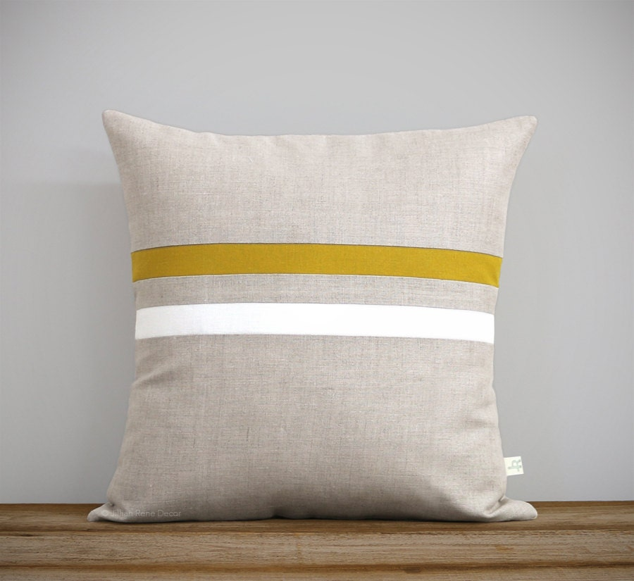 Signature Striped Pillow 16x16 Modern Classic Home Decor