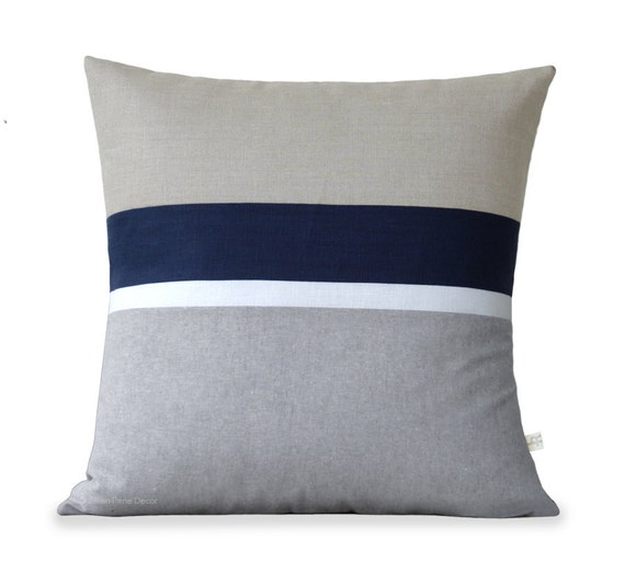 Navy Chambray Pillow Cover Set of 2