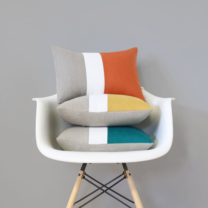 Colorblock Pillows AS SEEN in Atomic Ranch Magazine 12x16 by image 0