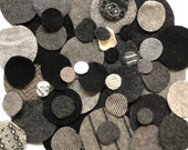 1 oz or 2 oz Wool Pennies Die cut Circles Felted Dots Various Sizes Recycled Wool and Cashmere Sweaters