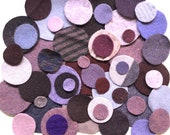 1 oz or 2 oz Wool Pennies Pre-cut Felted Wool Circles Die-Cut Dots Felted Sweater Shapes
