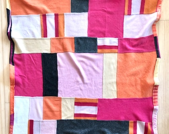 Cashmere Baby Blanket | Patchwork Lap Blanket | Upcycled Sweaters Throw Gift