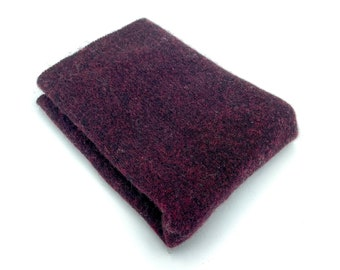 Felted Wool Remnant | Preshrunk Lambswool fabric Scrap | Sweater Piece