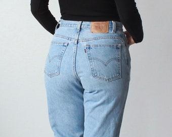 vintage high waisted levis | high waist levi 550 jeans, size medium