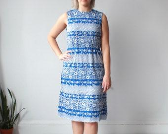 vintage plus size floral dress | sleeveless plus size dress, size