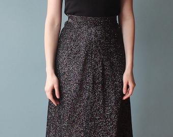 sparkly black maxi skirt | 1970s cocktail skirt | medium