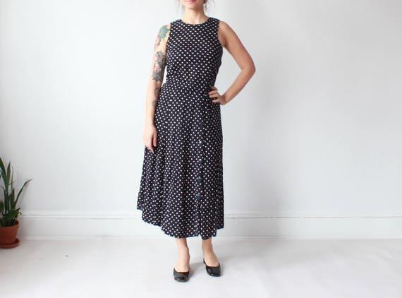 1c9ffc5f07 Polka Dot Sleeveless O-Neck Elegant Casual Boho  factory price cf951 cb338 vintage  polka dot midi dress sleeveless navy white summer ...