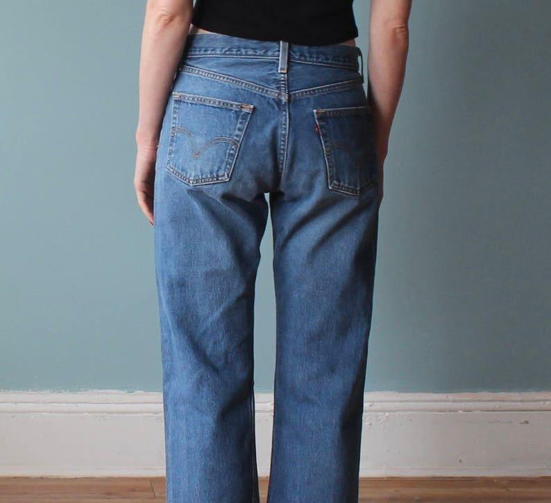 vintage levis 501 jeans  distressed boyfriend levi jeans  image 0