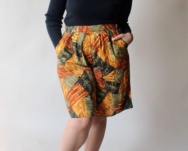 SALE plus size vintage 90s tribal shorts size 14 image 0