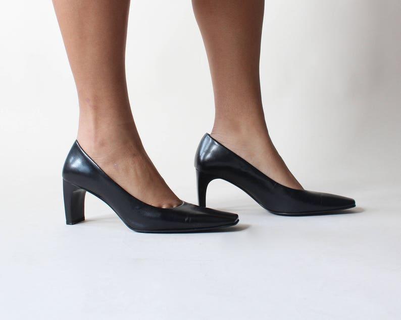 SALE aldo leather block heel pumps size US 7  EU 37 image 0
