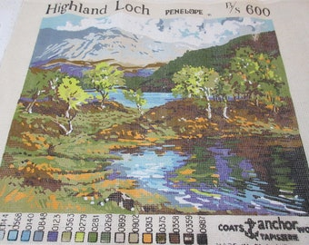 HIGHLAND LOCH Penelope 600 Needlepoint Canvas England Anchor Wool Tapestry Chart