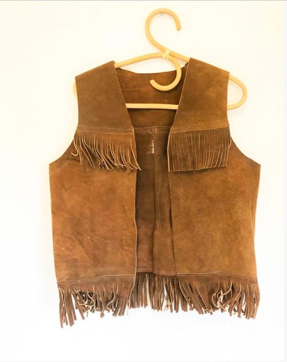 Vintage 70s Suede Fringe Vest