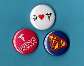 NURSES buttons u pick any 6