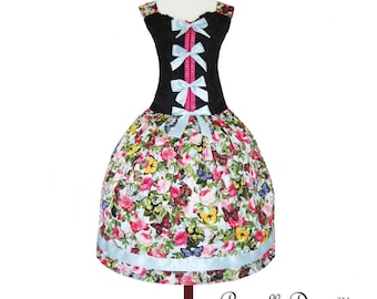Little butterfly  Teaparty Bodice Dress with frills and flowers