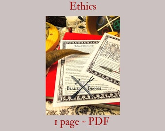 Witchcraft Ethics PDF -- Book of Shadows -- BOS page