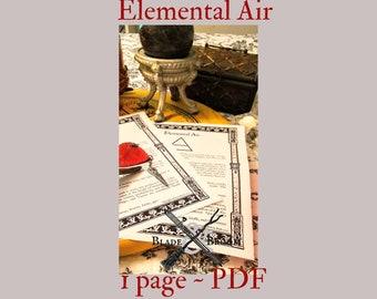 Elemental Air PDF -- Book of Shadows -- BOS page