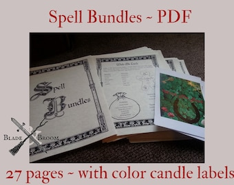 Spell Bundles BOS Sheets PDF format-- 27 pages Book of Shadows pages by Asteria Books