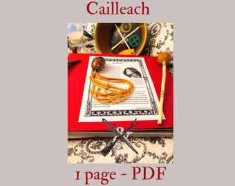 Cailleach PDF page -- Book of Shadows -- BOS page