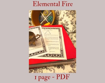 Elemental Fire PDF -- Book of Shadows -- BOS page
