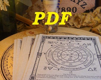 New TREE Index BOS Sheets PDF specialty pack -- 47 sheets -- Book of Shadows pages