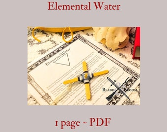 Elemental Water PDF -- Book of Shadows -- BOS page