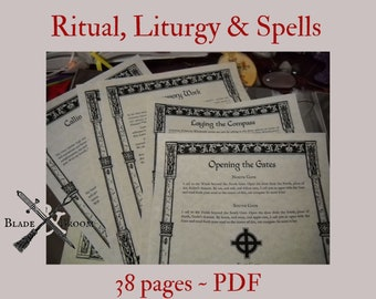 NEW Spells Rituals and Liturgy BOS Sheets specialty pack PDF -- 38 sheets -- Book of Shadows pages
