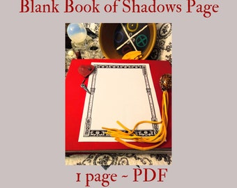 Blank BOS page PDF -- Book of Shadows -- BOS page