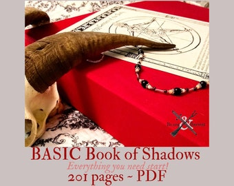 Basic BOS Sheets -- 201 pages --  PDF format-- Book of Shadows pages by Asteria Books