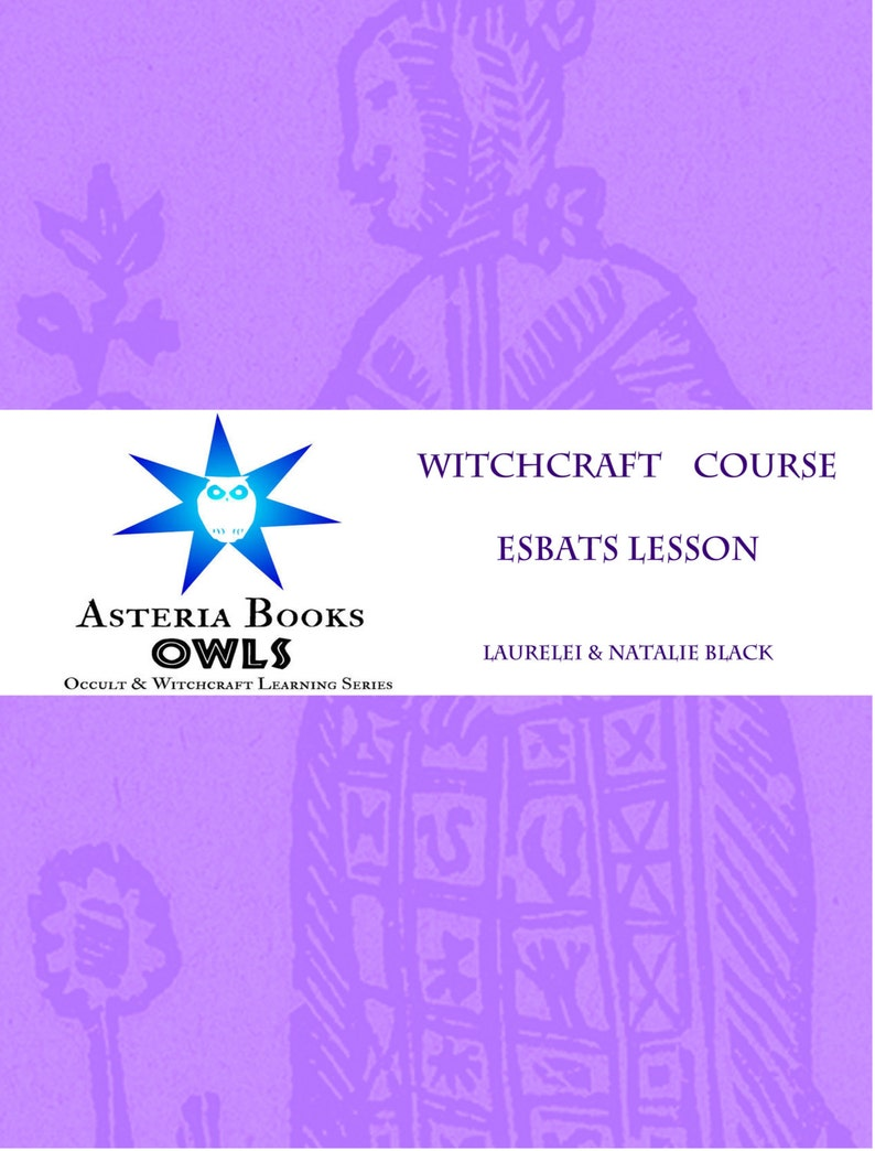Esbats Lesson PDF Eclectic Witchcraft Course from Occult Witchcraft and  Learning Series by Asteria Books