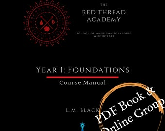 Online Interactive Traditional Witchcraft Course (self-paced ) 490 pg PDF guide book with book of shadows