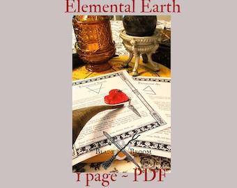 Elemental Earth PDF -- Book of Shadows -- BOS page