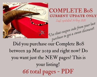 Updates Only for Complete BoS -- only the new pages since the last update --  66 sheets -- Book of Shadows pages