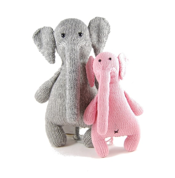 Esther The Eccentric Elephant Knitting Pattern Pdf Instant Etsy