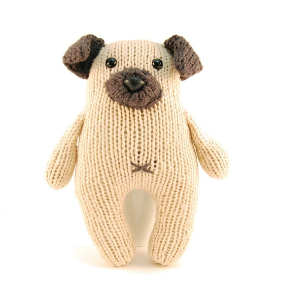 Wasabi the Gregarious Pug Knitting Pattern Pdf INSTANT