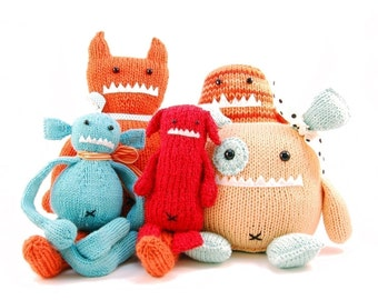 All 14 Monsters Knitting Patterns Pdf INSTANT DOWNLOAD