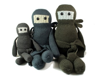 NEW Yuki the Cookie Ninja Knitting Pattern Pdf INSTANT DOWNLOAD