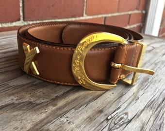 430f39f707222 Paloma Picasso soft camel leather belt