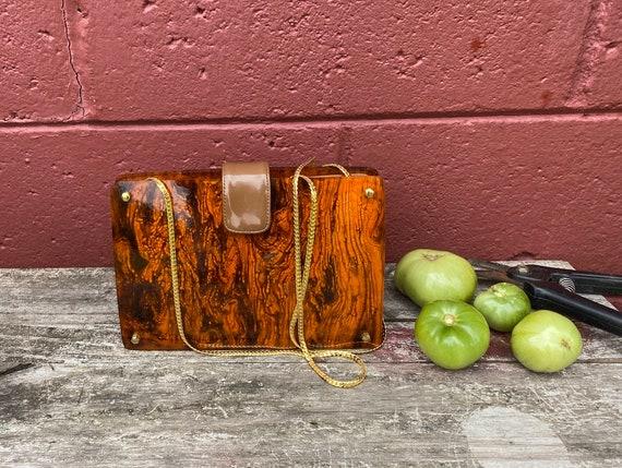 Stunning tortoise shell style Koret lucite purse,… - image 3