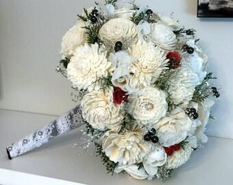Black bridal bouquet | Etsy