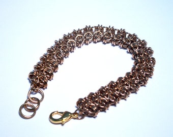 Jewelers Brass Chainmaille Byzee Beez to Butterflies Bracelet - Free Shipping Canada and Continental US