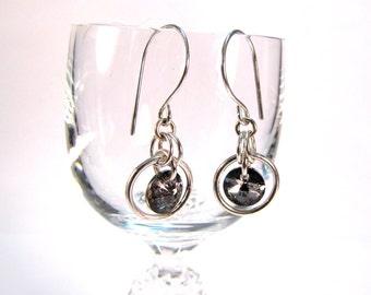 Sterling Silver Swarovski Drop Chainmaille Earrings