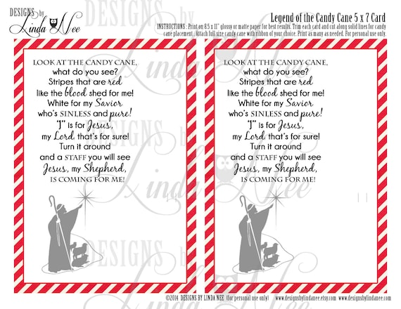 Monster image for story of the candy cane printable