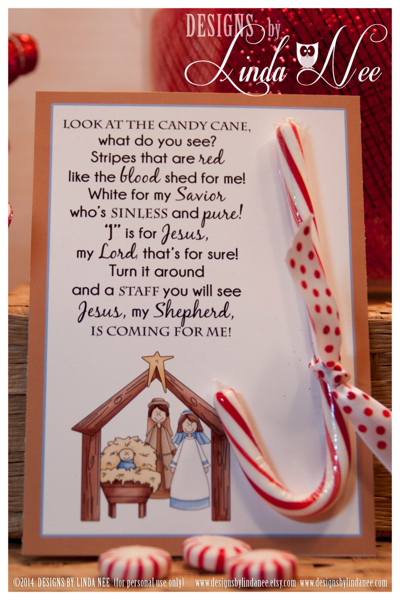 picture regarding The Story of the Candy Cane Printable identified as Legend of the Sweet Cane Nativity, Card for Witnessing at Xmas, Jesus is the Cause for the Period, Printable, Christian, Jesus, Card