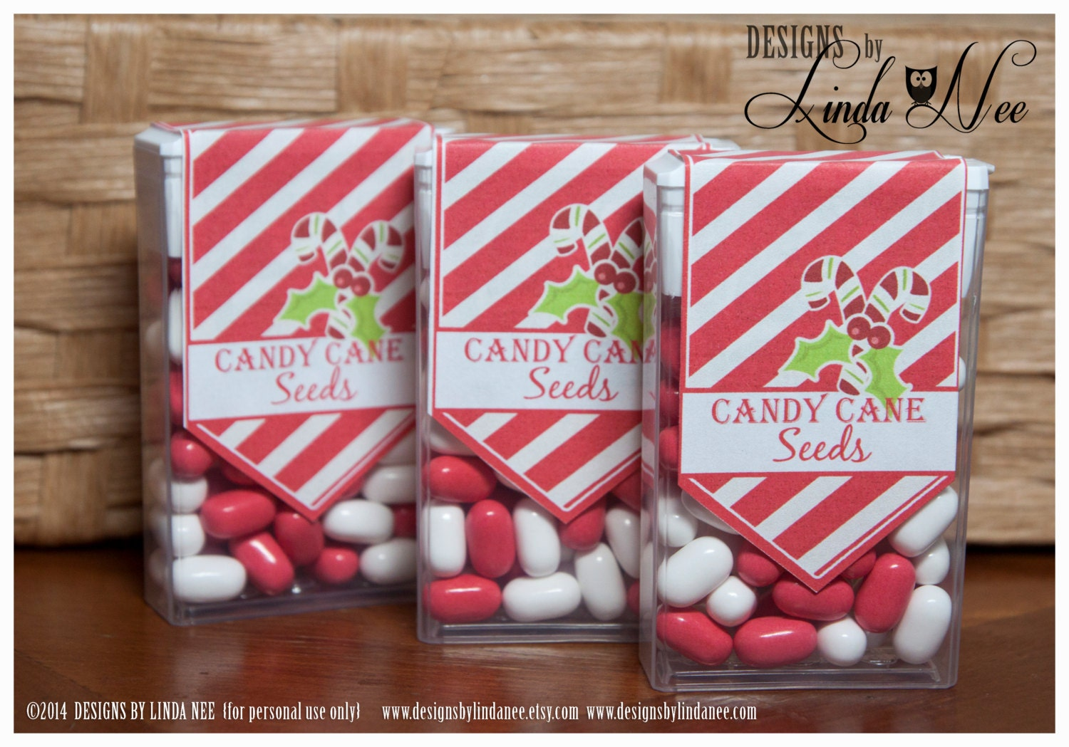 Tic Tac Candy Cane Seeds Printable Party Package Snowmen | Etsy