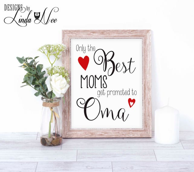 Only the Best MOMs get promoted to OMA Baby Reveal Gift Baby | Etsy