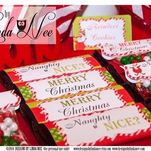 Christmas Candy Bar Wrappers Santa Christmas Large 1 55 Oz Etsy