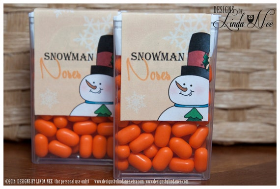 Tic Tac Snowman Noses Printable Party Package Snowmen Craft Fair Favors Quote Party Favors Winter Candy Tic Tacs Label