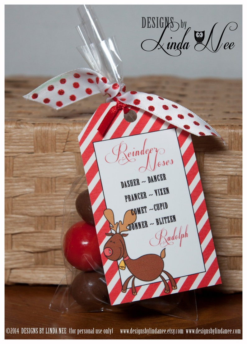 photograph about Reindeer Noses Printable named Reindeer Noses, Printable Bag Toppers, Rudolph, Take care of Bag Toppers, Xmas Social gathering Favors, Xmas Reward, Vacation Choose, Quick Down load