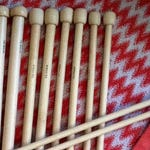5 Pairs of LARGE Knitting Needles  and Yarn!