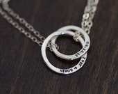 Sterling Silver Dainty Wedding Band Necklace (E0338)